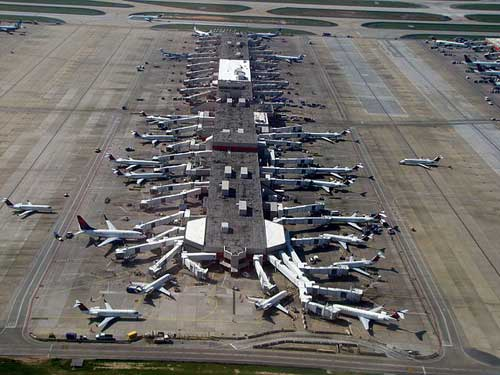 Aerial view of Atlanta International Airport