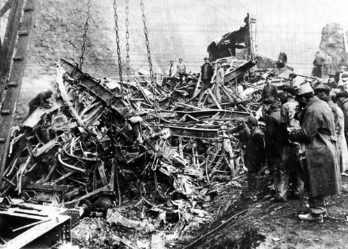 The aftermath of the 1917 disaster in France