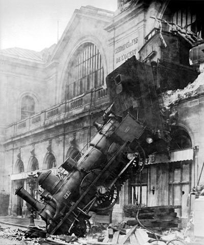 OK, so this crash was in Paris in 1895, but too good an image not to include!!