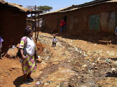 Kibera Slum in Nairobi via http://www.flickr.com/photos/khym54/