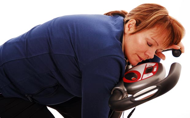 Overdoing it tired on exercise bike