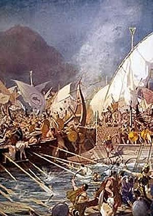 The Battle of Salamis- Artemisia commanded five ships