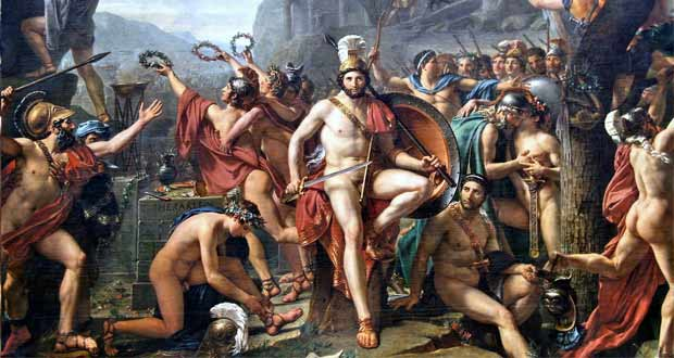 Leonidas at Thermopylae (1814) by Jacques-Louis David