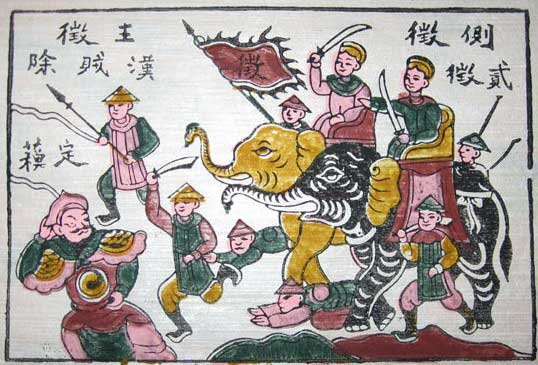 Trung Sisters in battle