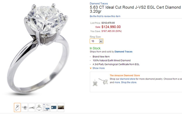 expensive engagement ring on amazon