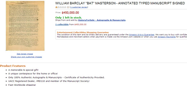 william barclay signed manuscript from amazon
