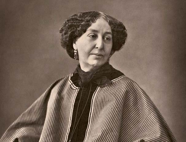 """George Sand"" at 60, by Nadar"