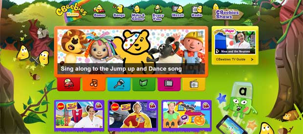 Cbeebies site for kids