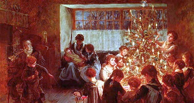 The Christmas Tree.  Albert Chevallier Tayler